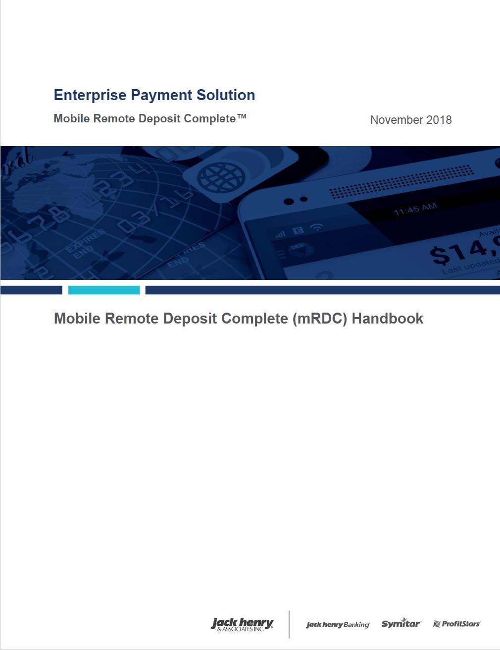 Mobile Remote Deposit Image